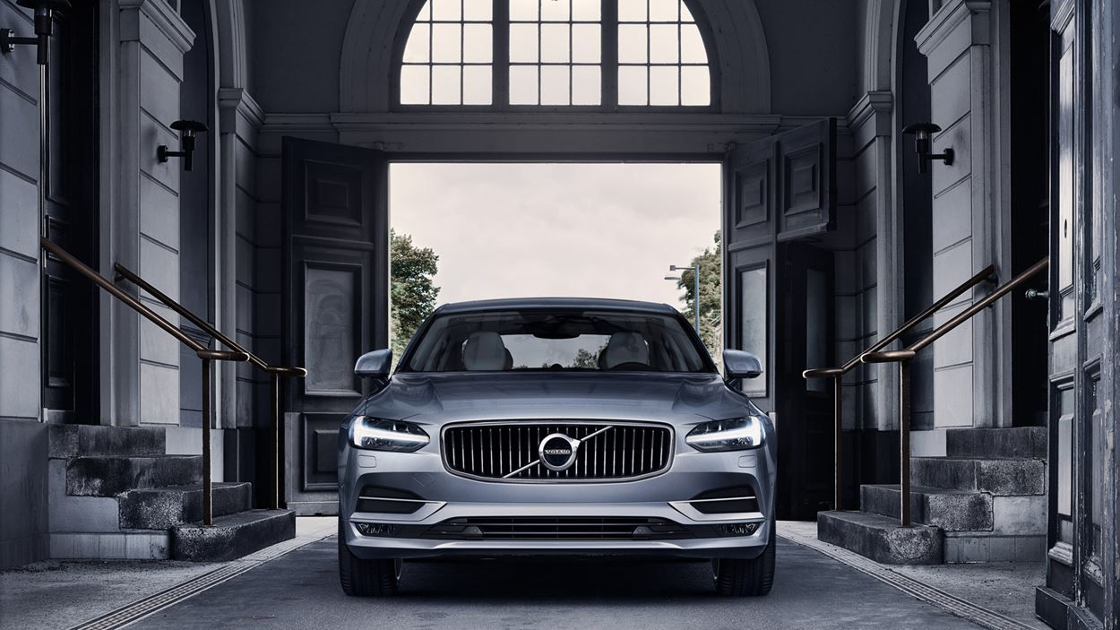 Volvo S90 luxury sedan front view Volvo, Modellen