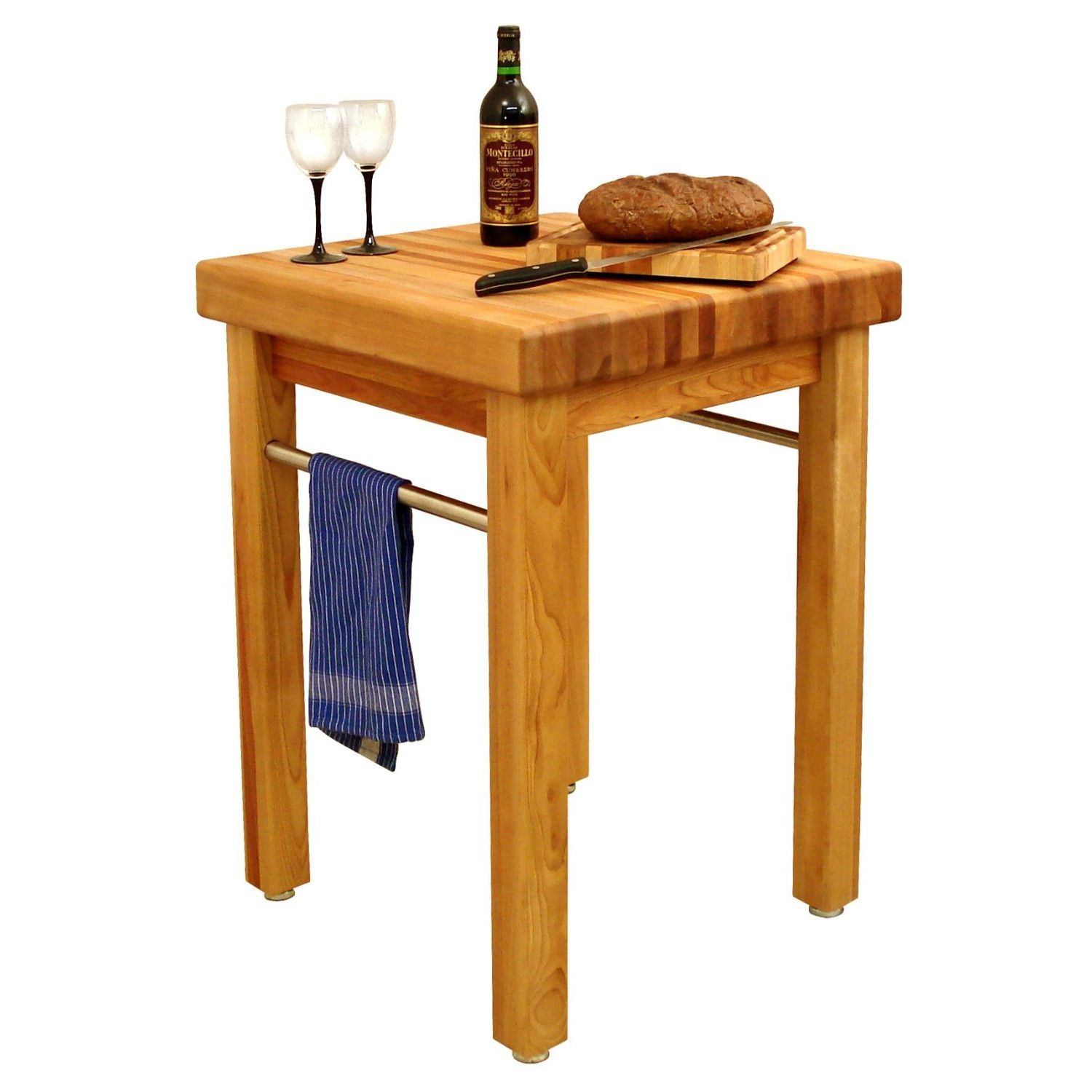 Catskill Craftsmen, Inc French Country Prep Table Butcher Block