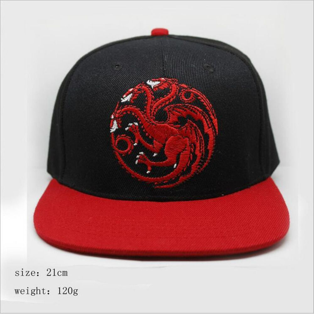 Game Of Thrones Cosplay Adult Hat House Targaryen Baseball Cap