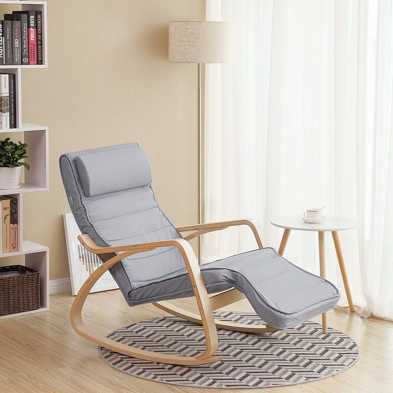 Songmics Solid Wood Rocking Chair & Reviews Wayfair.co