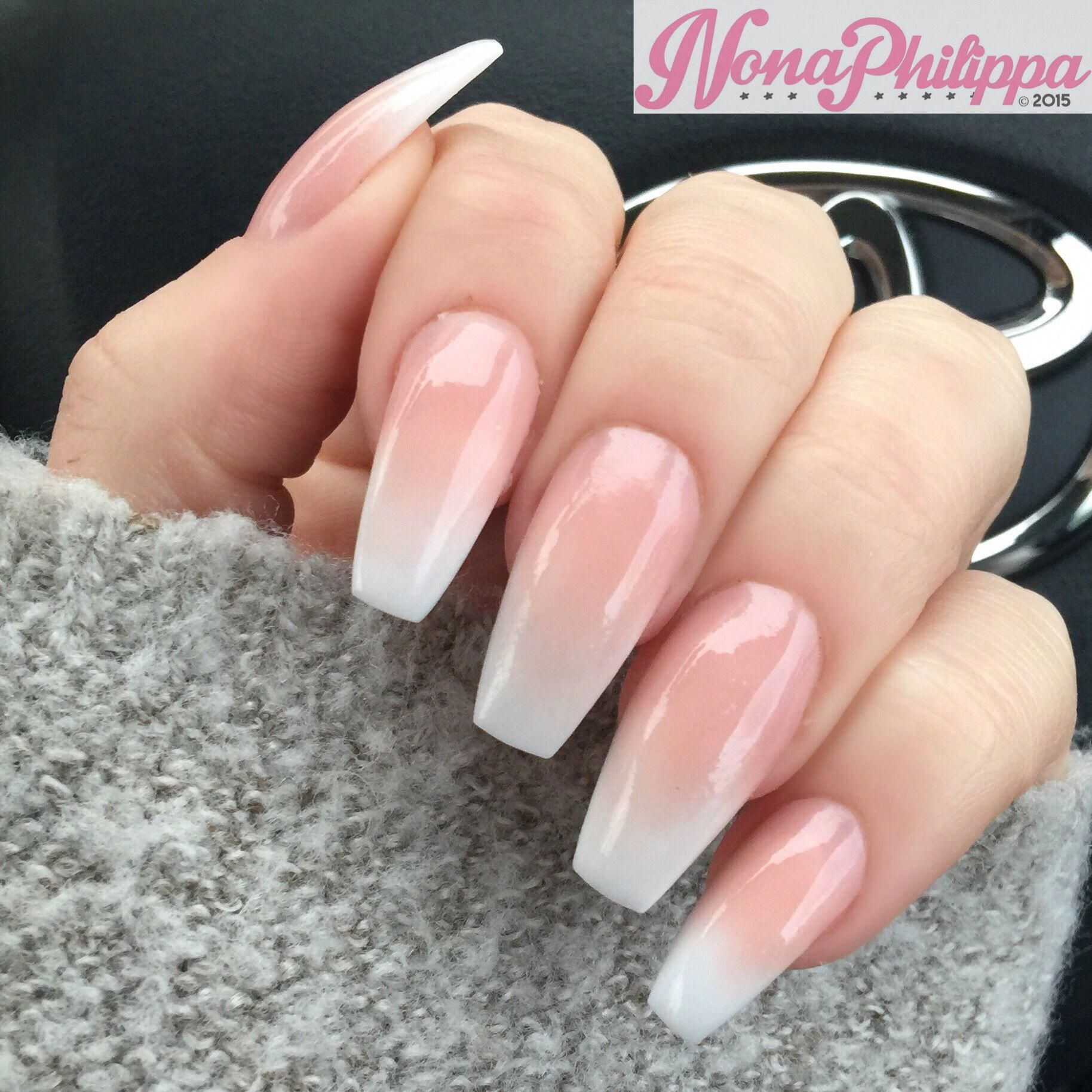 Baby Boomer Coffin Acrylic Nails Beautifulacrylicnails Square Acrylic Nails Natural Acrylic Nails Acrylic Nails Coffin