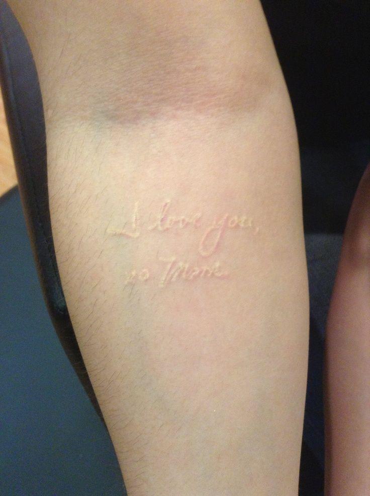 16+ Stunning Healed white ink tattoo on tan skin image HD