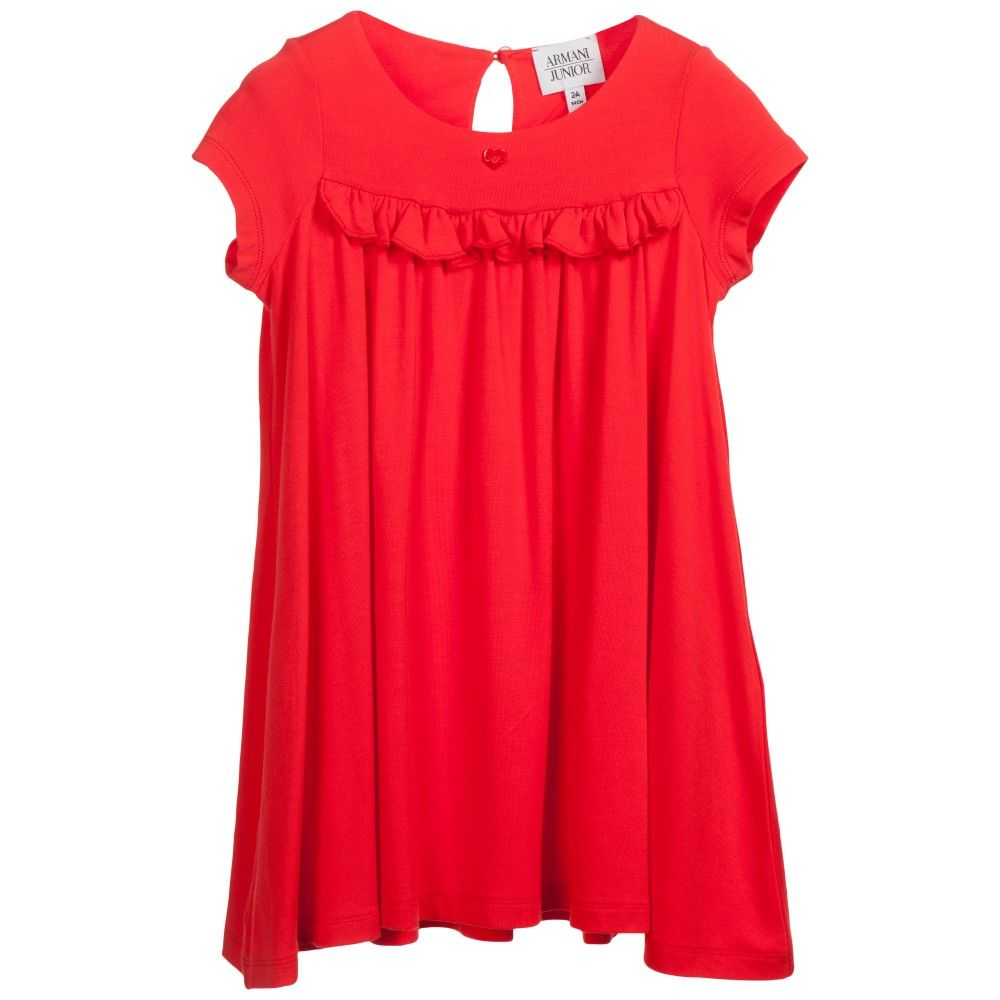 Red viscose jersey dress kids online and babies