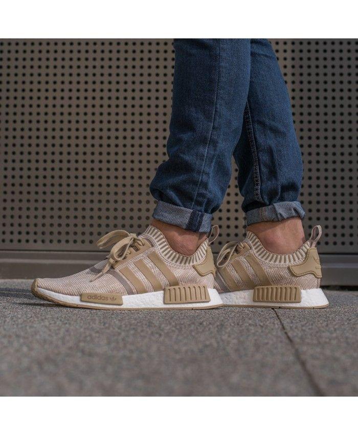 Adidas Originals NMD R1 Runner Primeknit Mens Khaki | Best