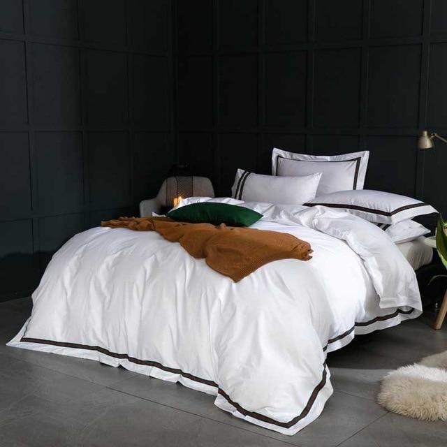 Best 5 Star Hotel Luxury White 100 Egyptian Cotton Bedding 400 x 300