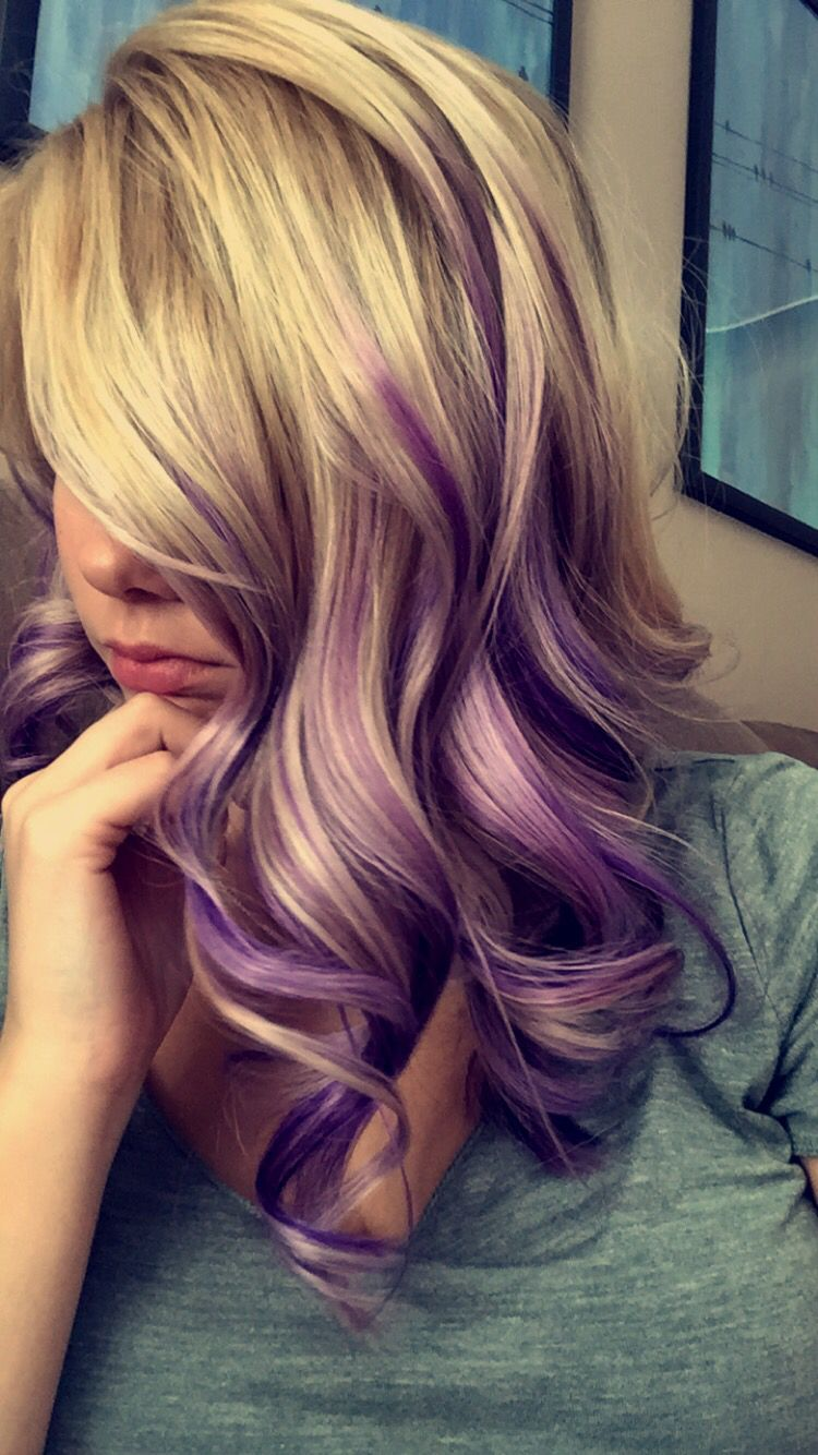 Purple and blonde hair Beauty Ideas Pinterest Blondes Hair