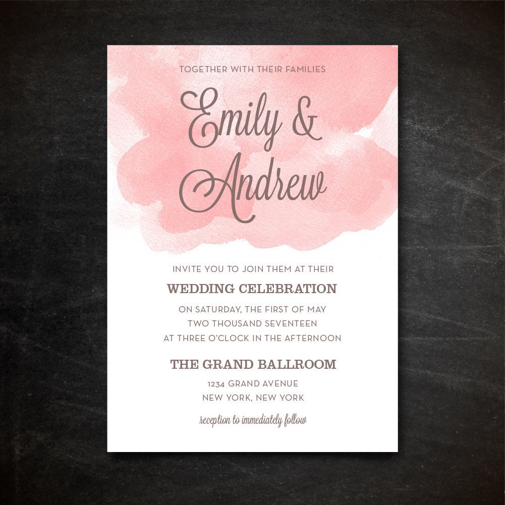 Wedding Invitation Template   Printable Wedding Invitation   Editable Wedding  Template   Instant Download   Photoshop PSD