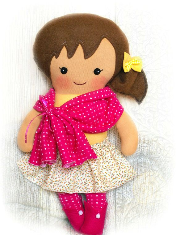 Cloth doll Toddler gift Handmade doll Rag by Fairybugcreativetoys