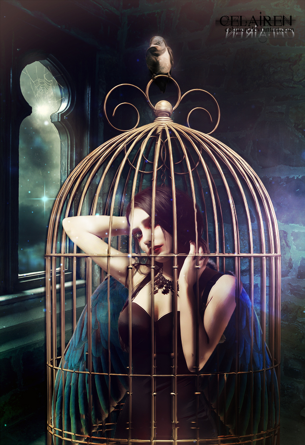 Caged By Celairen On Deviantart Cage Light In The Dark Life Art
