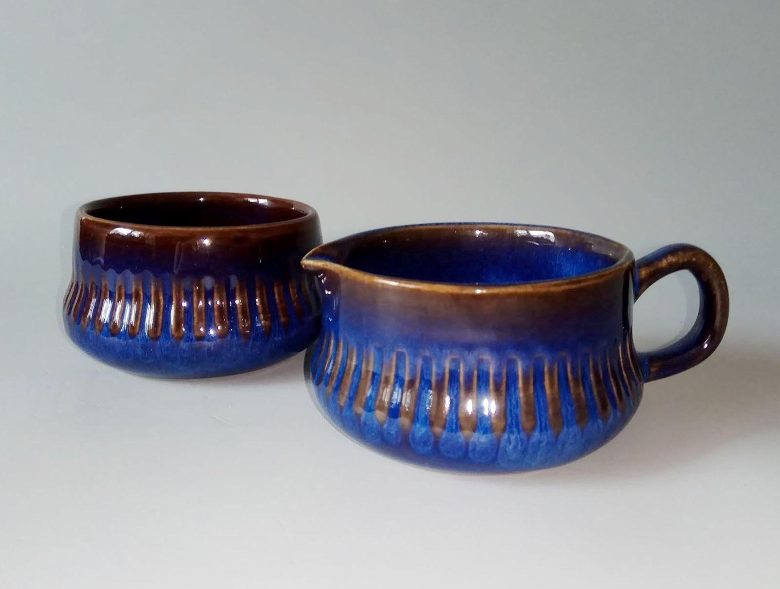 Vintage Upsala-Ekeby GEFLE Sweden Kosmos cup and saucer design Berit Ternell 1960\u2019s.