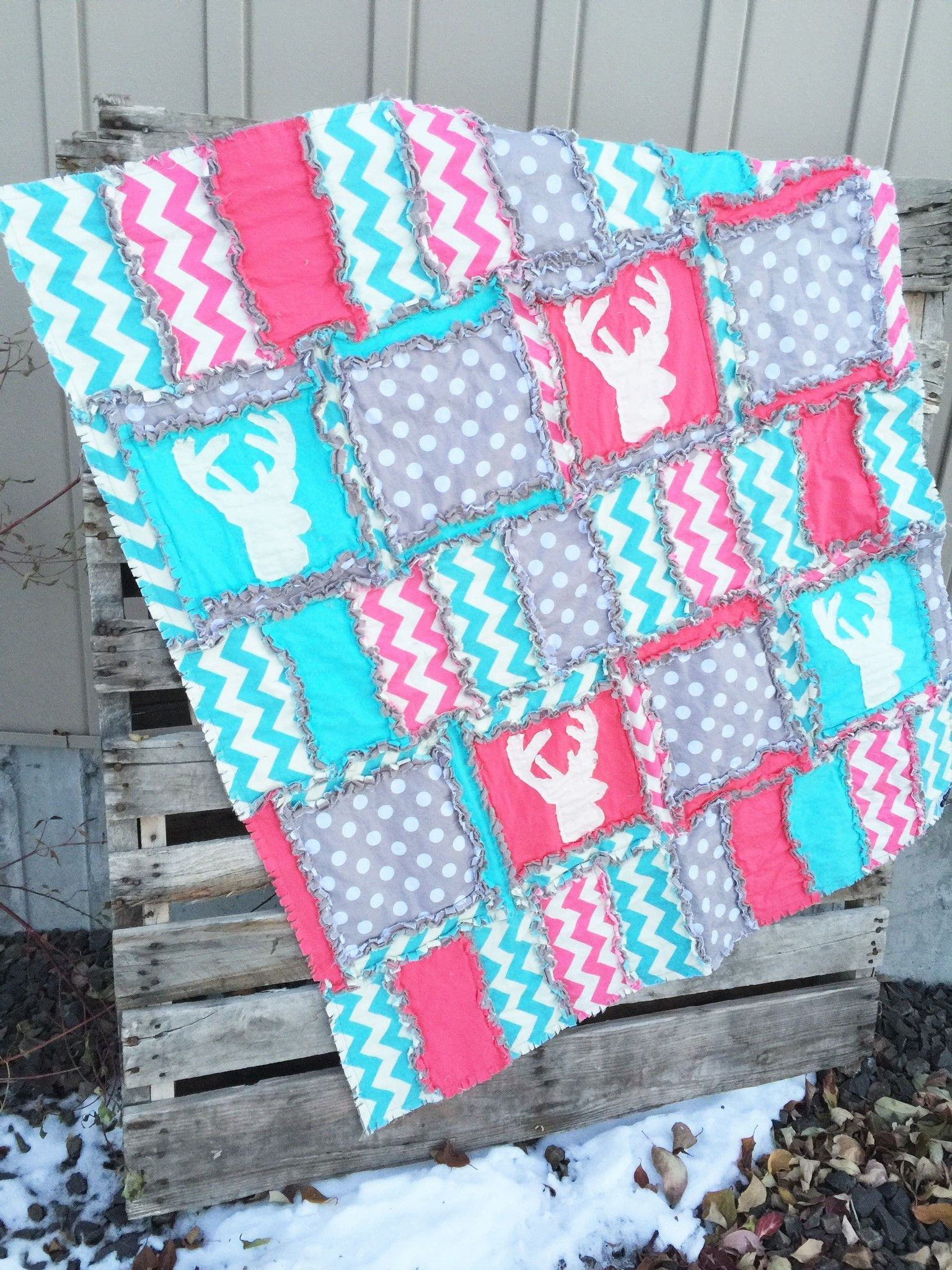 Photo of Woodland Crib Bedding for Baby Girl Nursery Decor – Hot Pink / Turquoise / Gray