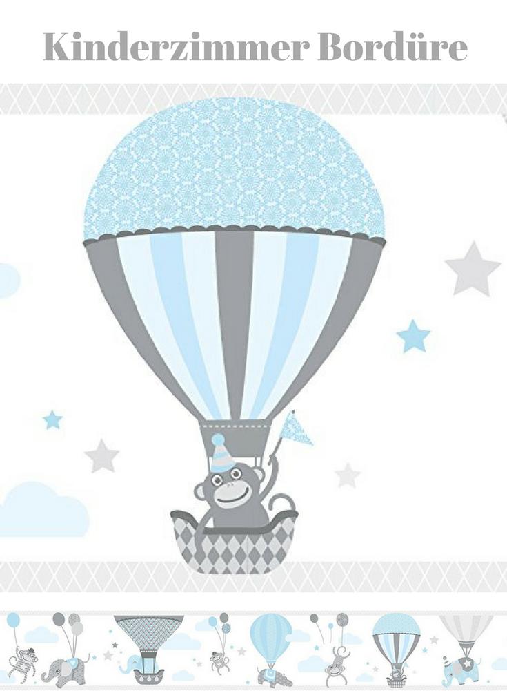 Susse Wandgestaltung Fur Ein Babyzimmer Affe Im Luftballon Wand Bordure Selbstklebend Hot Air Balloons Wandb Babyzimmer Ballonwand Wandtattoos Babyzimmer