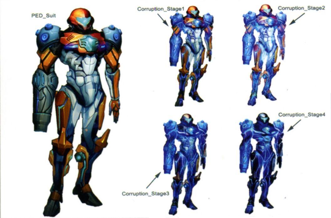 Samus Aran Ped Suit Concept Art Metroid Samus Metroid
