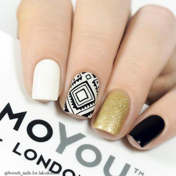 Ideas de diseño de uñas para el verano | Oro negro, Diseños ...