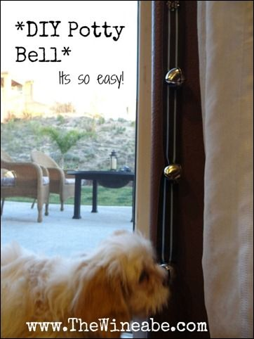 How To Make A Potty Bell Dog Potty Dog Training Training Your Dog
