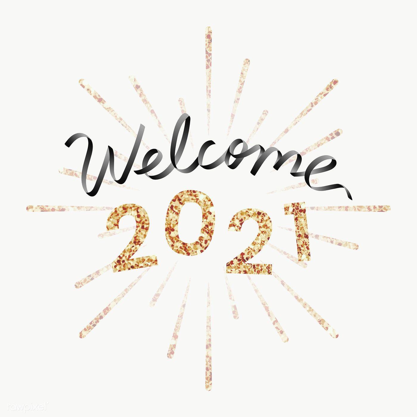 Shimmering golden 2020 transaprent png free