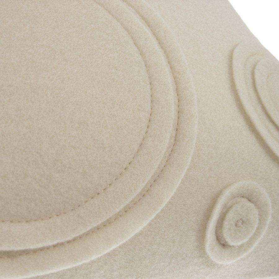Wool Blend Felt Pillow, Made to Order - Orbit. $65.00, via Etsy.