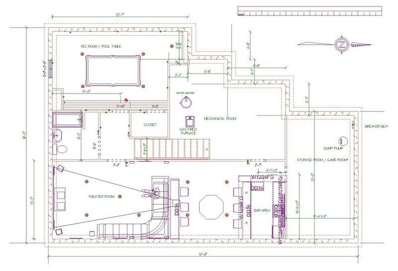 Basement Project Theater / Bar / Rec Room Basement