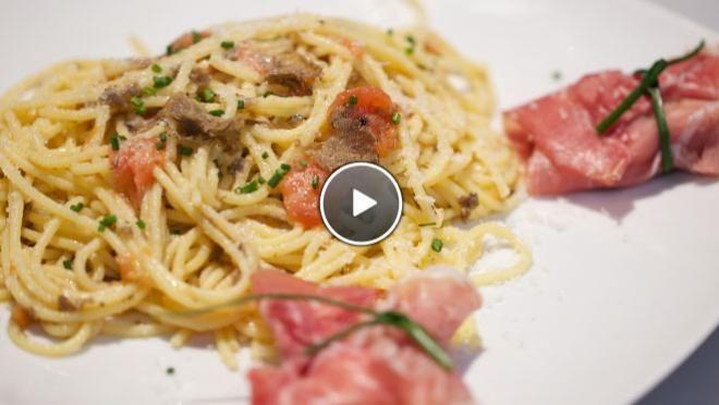 Spaghetti al tartufo (Spaghetti met truffel) - recept | 24Kitchen