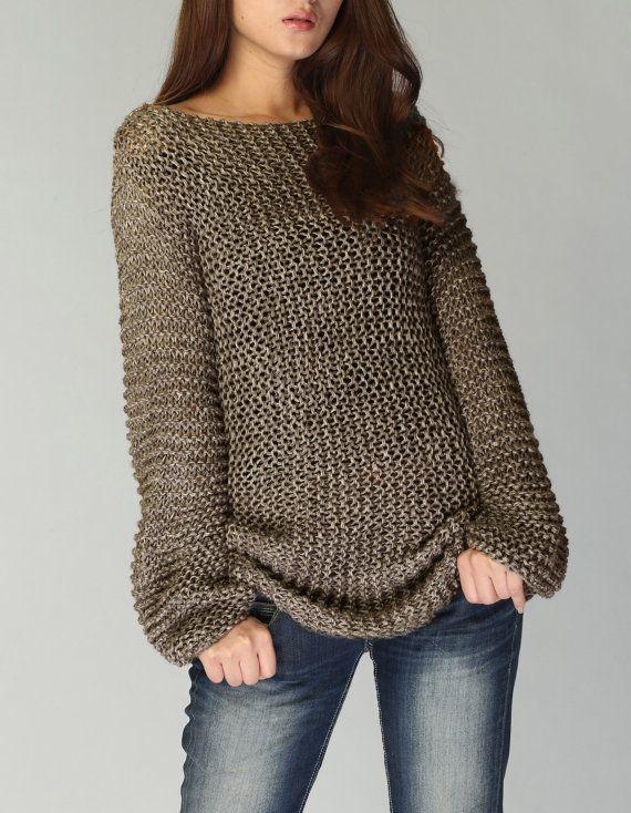 Hand knit sweater | Patrones | Pinterest | Suéteres largos, Suéteres ...