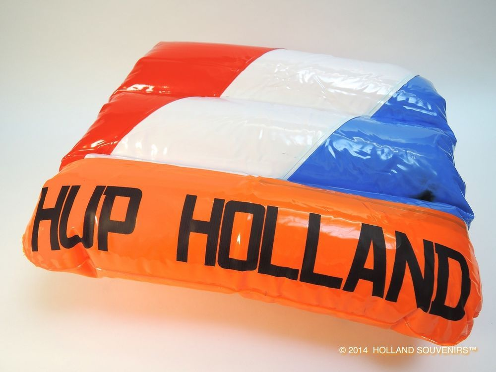 HUP HOLLAND CUSHION & THE FLAG COLORS OF THE NETHERLANDS SOCCER BRAZIL WORLD CUP