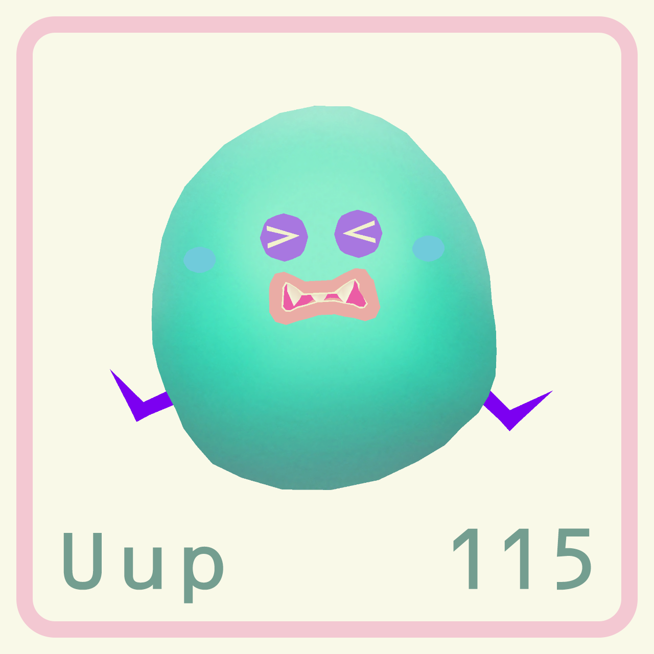 Here's Ununpentium. It's a super heavy element which is ...  Here's Ununpe...