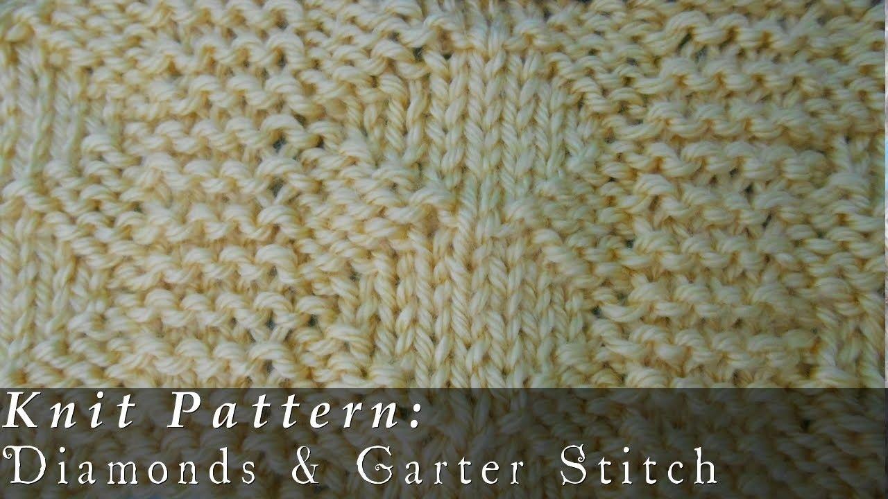 Diamonds & Garter Stitch { Knit }   Stitch and Craft