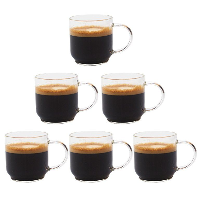 Zenco 4 Oz 125ml Coffee Glass Cups Gift Set Set Of 6 Perfect