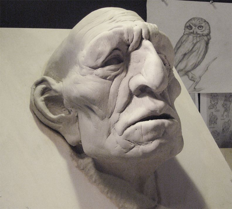 Joseph mancha elder mask sculpture wed clay ceramic