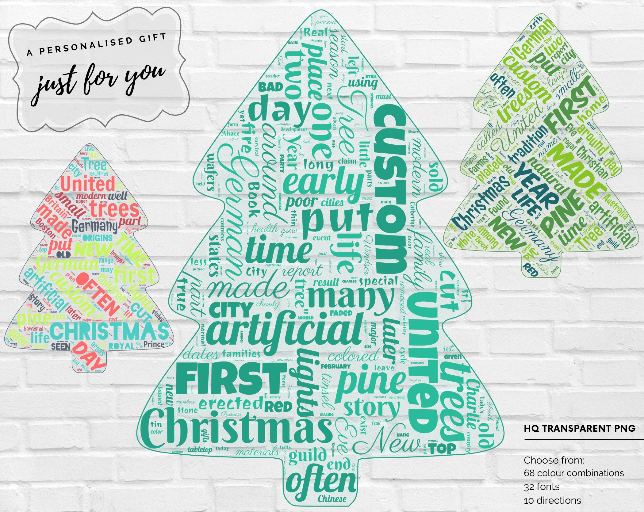 Personalized Christmas Tree Word Art Transparent Background Png File 68 Colours 32 Fonts Customized Word Print Xmas Word Cloud Art Word Cloud Art Personalized Word Art Word Art