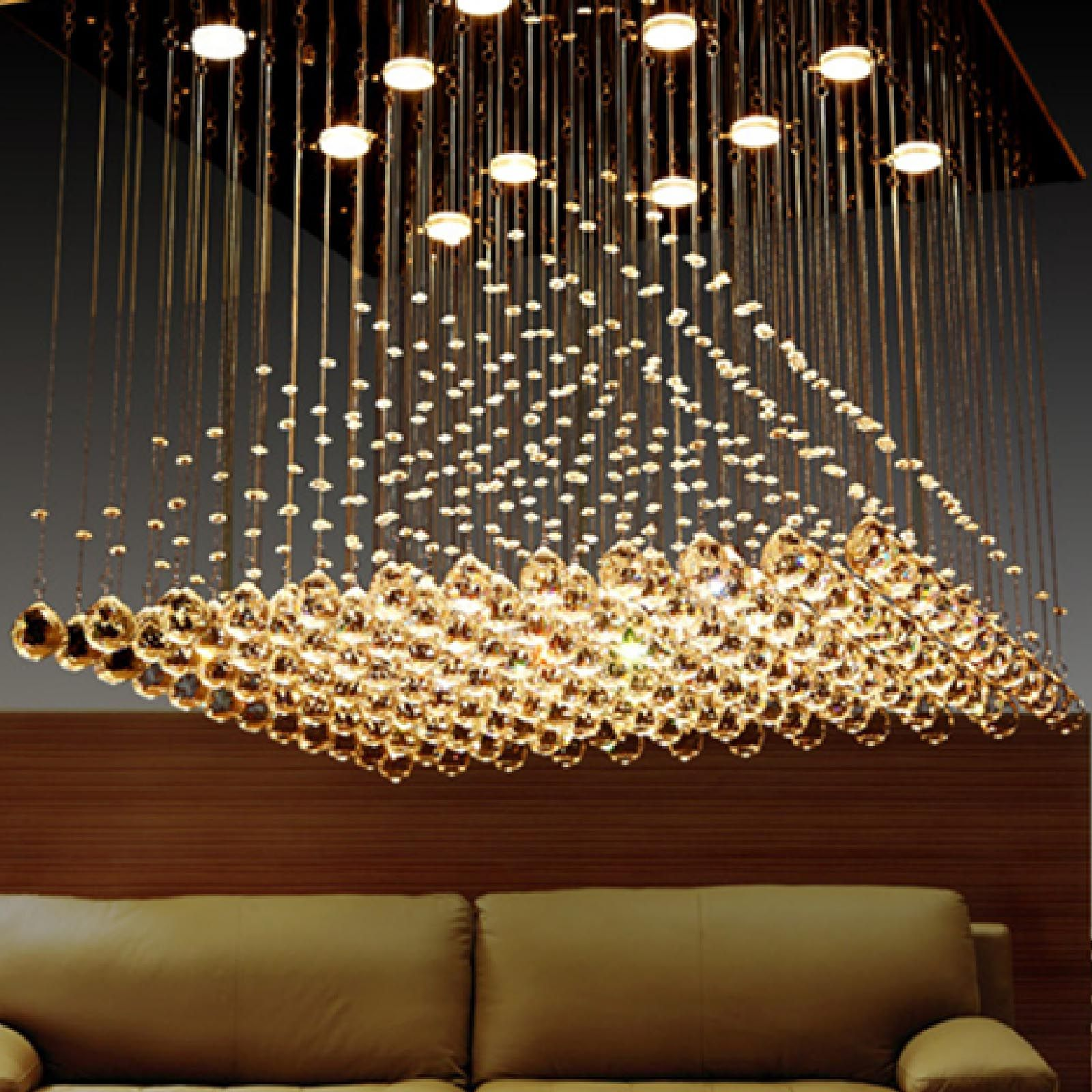 Byb Modern Chandelier Rain Drop Pyramid Chandeliers Lighting