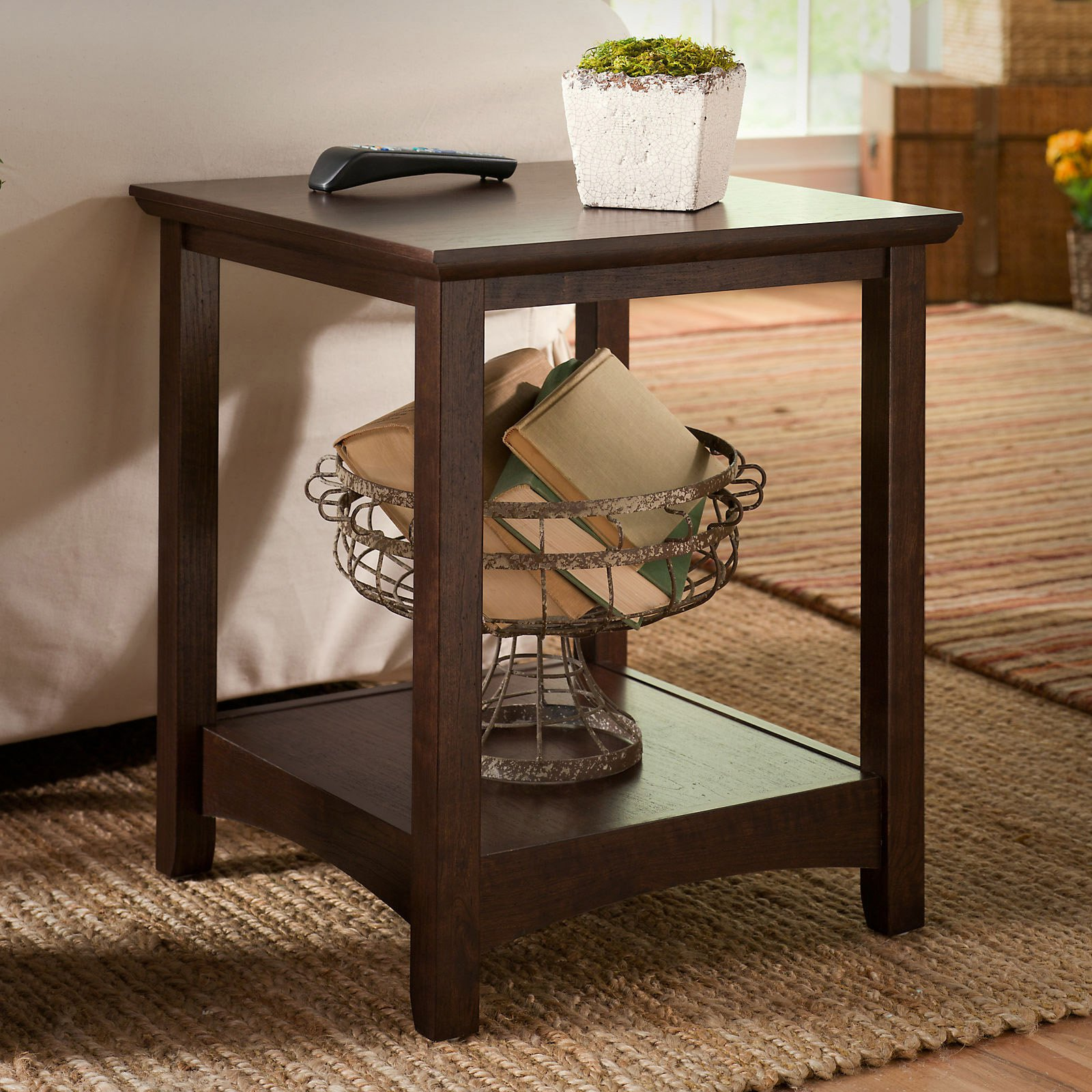 Buena Vista Square Cherry Wood End Table