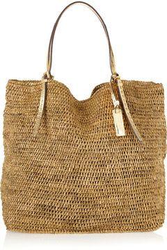052e30bf7d8d Michael Kors Santorini Woven Raffia Shopper | :: BAG IT FILET | Bags ...