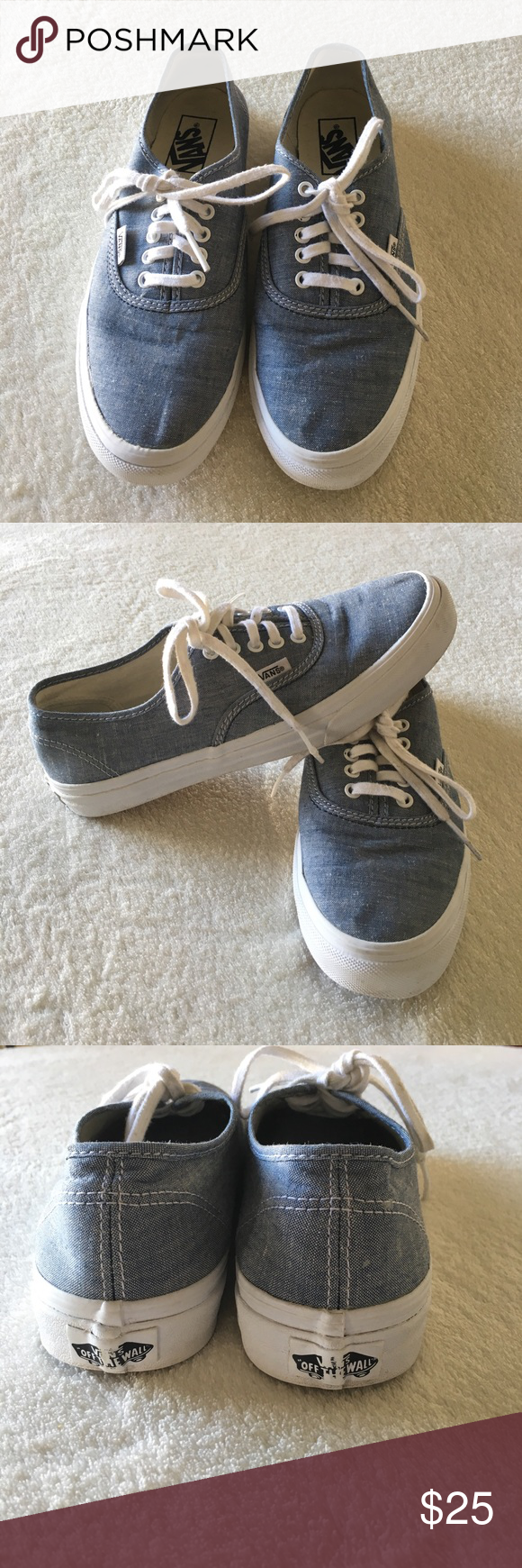 Men or Women {VANS} Light blue denim like material. Brand New without box. ✨Feel free to make an offer! ✨ Vans Shoes