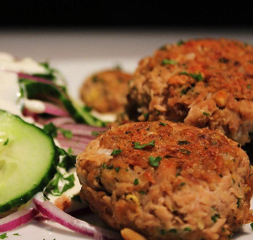 Tuna Balls & Cucumber Salad