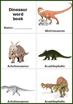 Magic image with printable dinosaur pictures with names