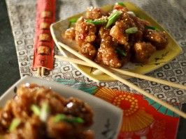 Sesame ginger chicken recipe glaze cooking and sesame chicken healthy sesame ginger chicken recipes cooking channel forumfinder Choice Image