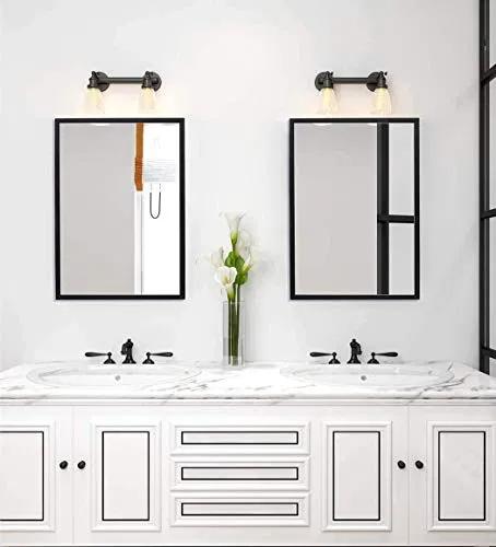 28+ Bathroom vanity mirror black inspiration