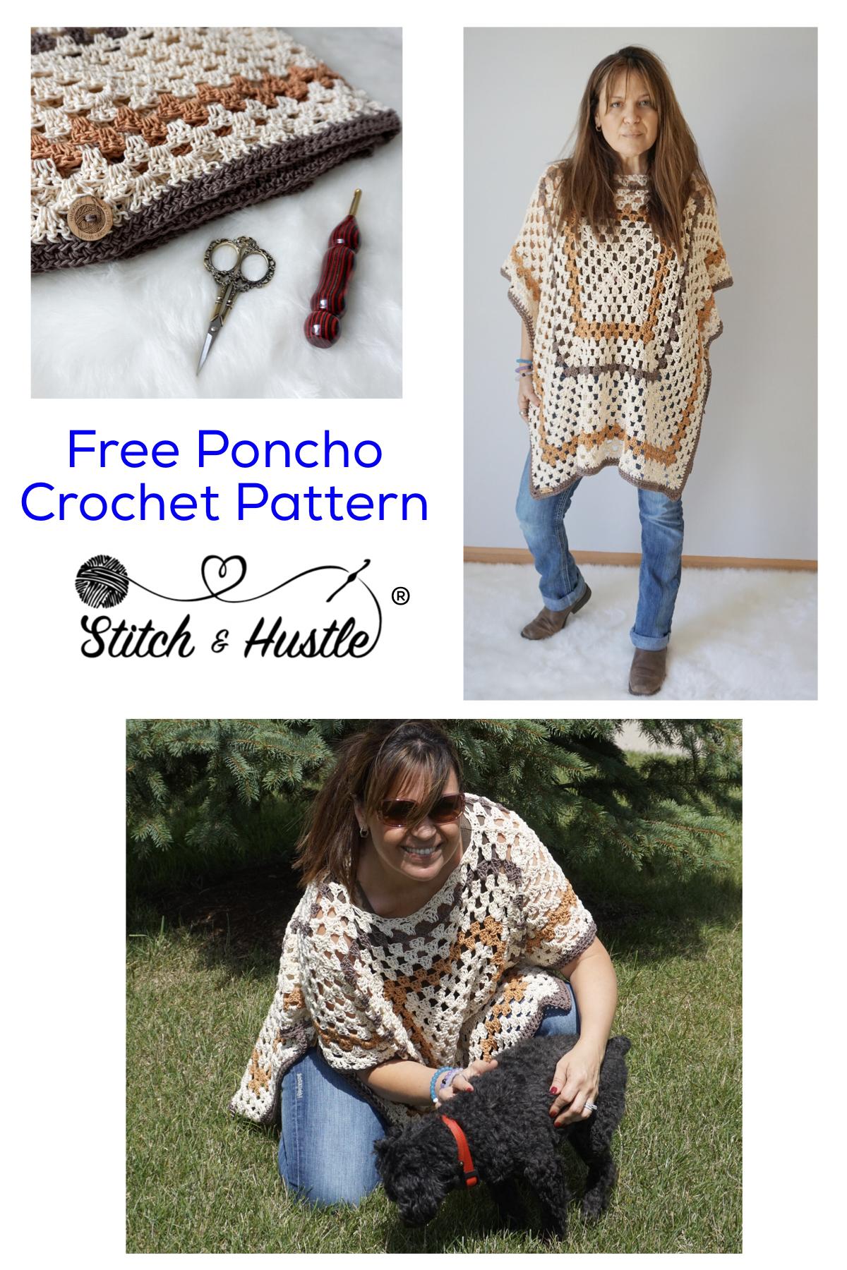 Sedona Poncho Free Pattern | Invierno