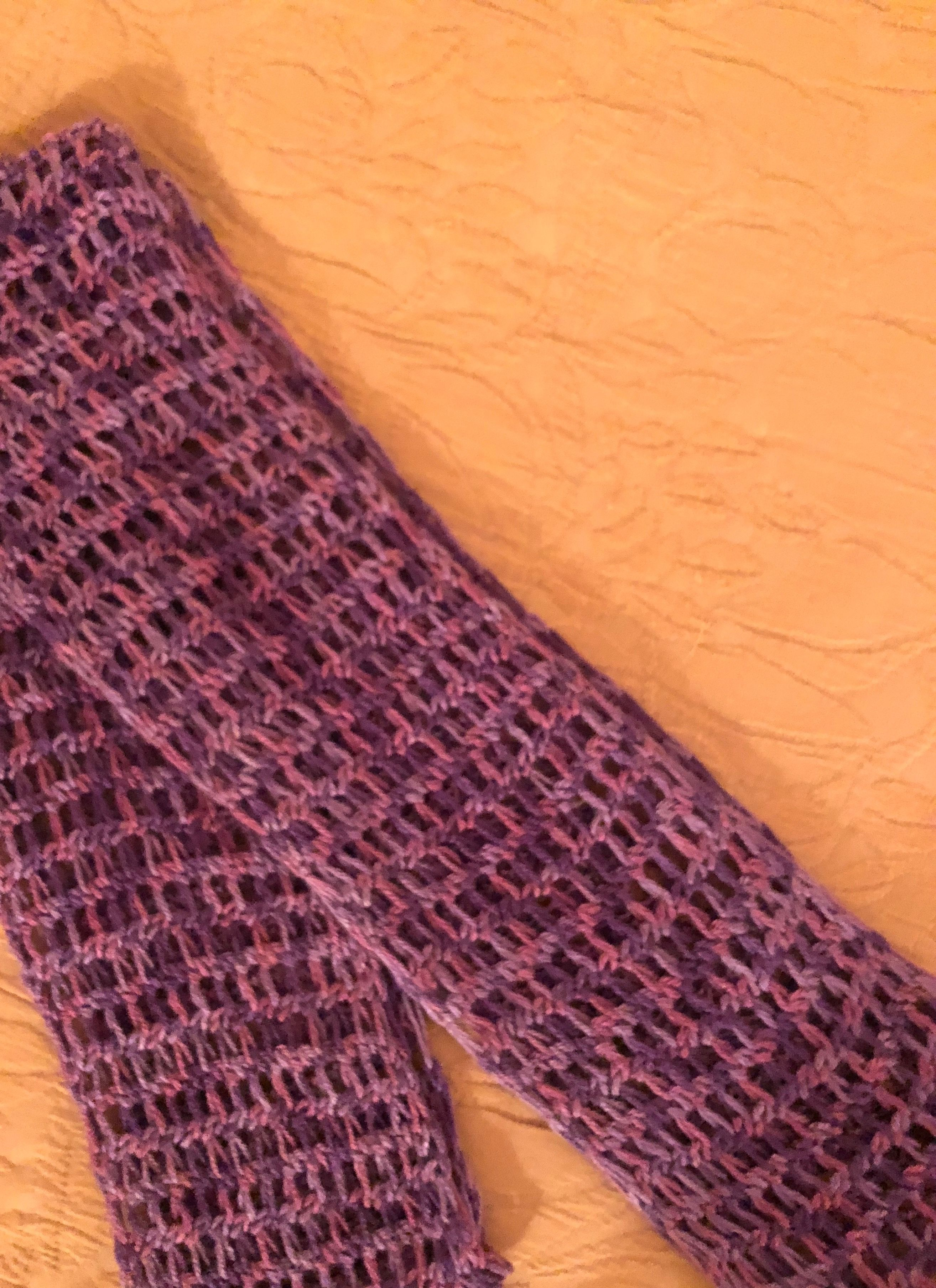 Infinity Scarf Mock Crochet Stitch Boye Round Loom Red Heart