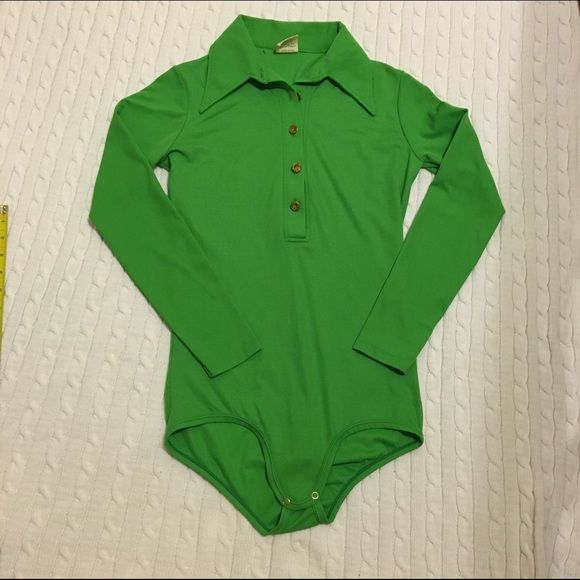 Vintage bodysuit M Vintage snap crotch bodysuit. Excellent condition. Size M. Made in USA. Mayer Tops