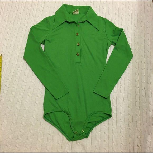 Vintage bodysuit M Vintage snap crotch bodysuit. Excellent condition. Size M. Made in USA. Mayer Tops