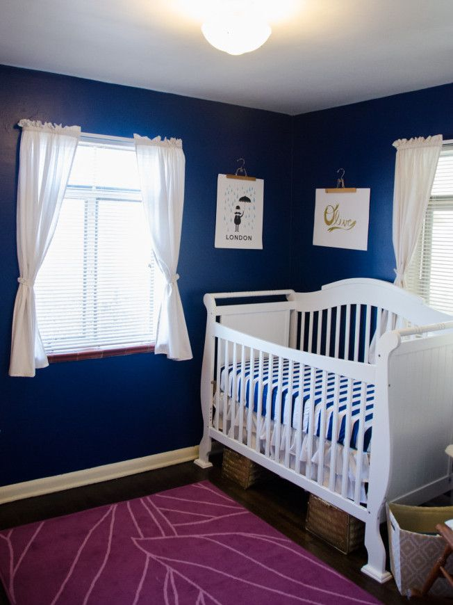 Navy and Gold Nursery