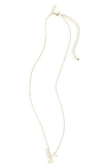 Topshop Hummingbird Charm Necklace available at #Nordstrom