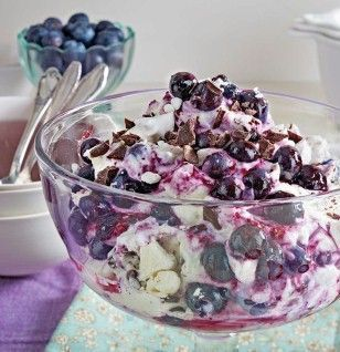 Photo of Blueberry mascarpone mug with meringue and chocolate recipe DELICIOUS
