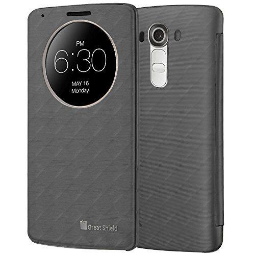 LG G4 Quick Circle Funda - GreatShield [LX SHIFT] alta calidad De cuero del tirón Cubierta con el sueño y la vigilia función para LG G4 (Gris) - http://www.tiendasmoviles.net/2016/01/lg-g4-quick-circle-funda-greatshield-lx-shift-alta-calidad-de-cuero-del-tiron-cubierta-con-el-sueno-y-la-vigilia-funcion-para-lg-g4-gris/