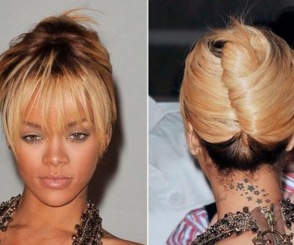 Astonishing 1000 Images About Rihanna My Hair Icon Lt3 On Pinterest French Short Hairstyles For Black Women Fulllsitofus