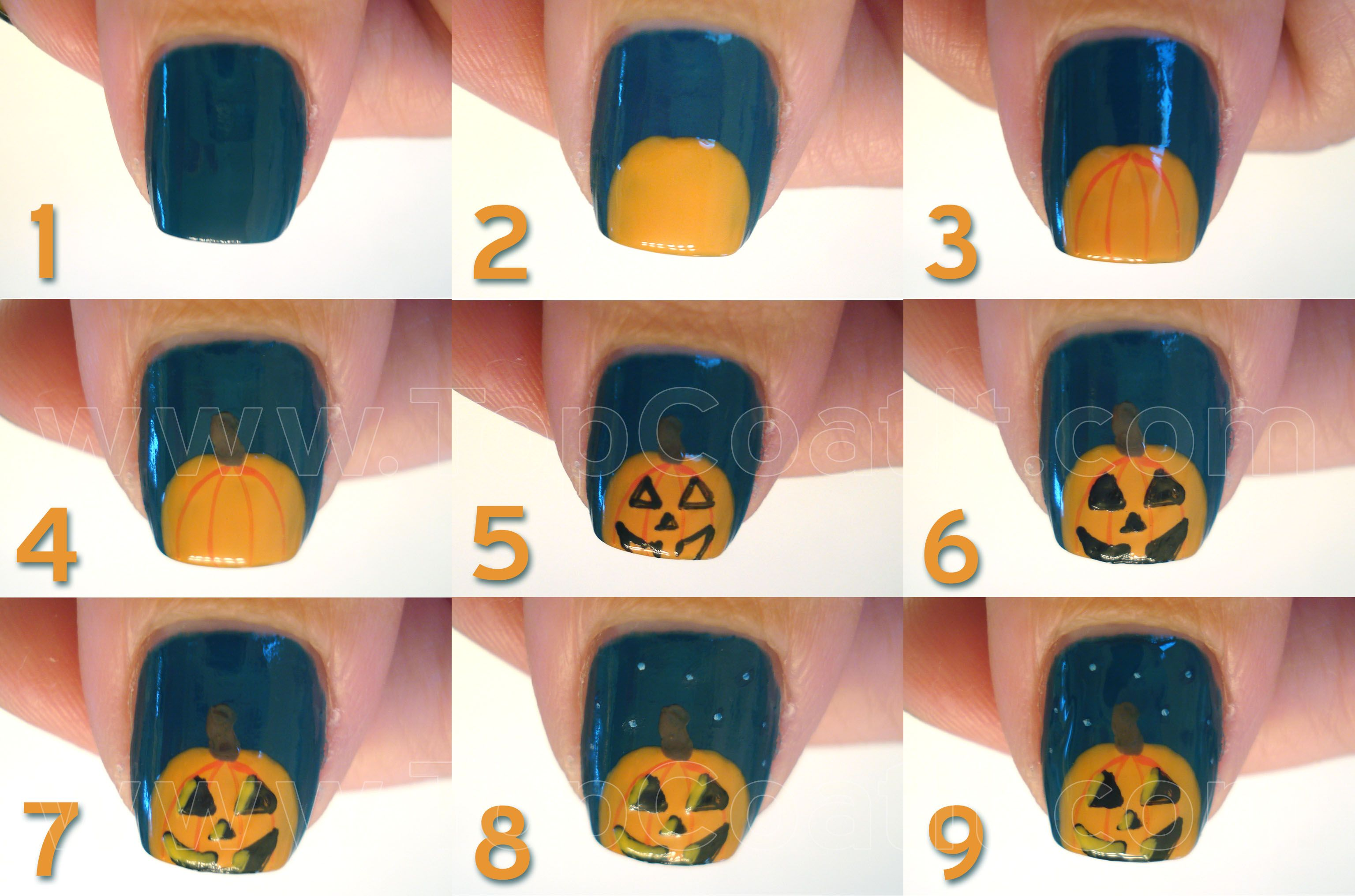 Jack-o-lantern_tutorial_collage copyWL | nail art tutorials - מדריכי ...