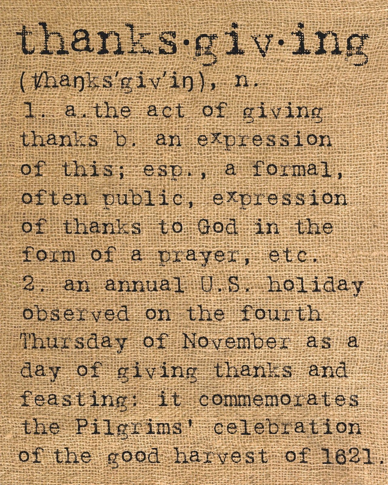 Thanksgiving, a definition