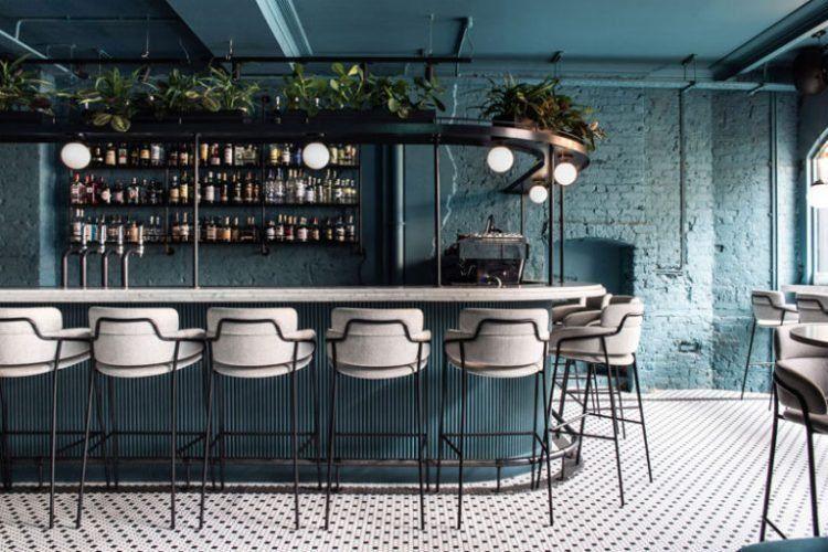 Coffee And Cocktail Restaurant Greenwich Grindy By Biasol London England Bar Interior Design Restaurant Interior Bar Interior